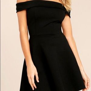 Black skater semi-formal dress